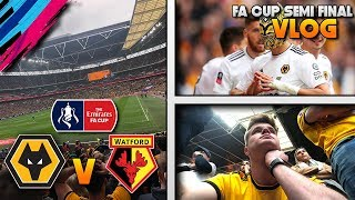 GOALS AND HEARTBREAK!! 💔 | Wolves Vs Watford Matchday VLOG (FA Cup Semi-FInal)