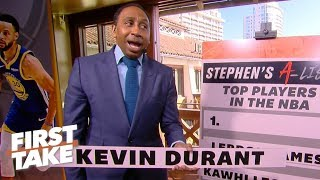 Stephen A.'s top 5 NBA players | First Take