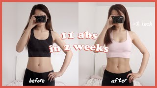 i tried to get my 11 abs back in 2 weeks