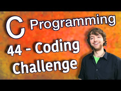 C Programming Tutorial 44 – Coding Challenge