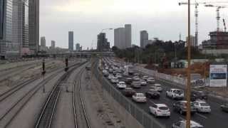 preview picture of video 'Trains and traffic in Tel Aviv Savidor Central Railway Station'