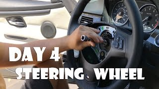 Upgraded Steering Wheel + Airbag + Clearing Codes + ZHP Shift Knob on Salvage 335i from IAA