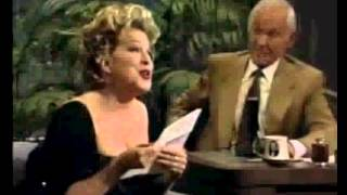 Bette Midler   You Made Me Watch You   Here's That Rainy Day   Johnny Carson   1992