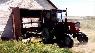 ЮМЗ-8040.2 загоняю 6 тон пшеницы в склад, без стопора:)))