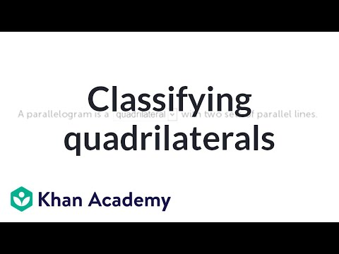 Classifying Quadrilaterals Video Shapes Khan Academy