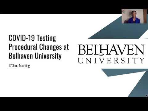 COVID-19 Testing Procedural Changes at Belhaven University