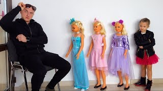Ksysha Pretend Play Dress Up and MakeUp Toys Kids Disco for dolls