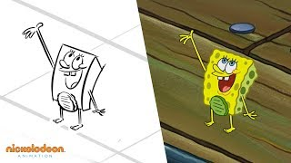 """The Incredible Shrinking Sponge"" Animatic | SpongeBob SquarePants | Nick Animation"