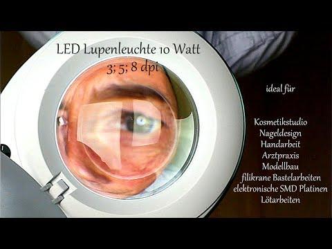 Lumeno LED Lupenleuchte Kosmetik Nageldesign SMD Lupentest Review