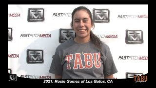 2021 Rosie Gomez Power Hitting First Base Softball Skills Video - TABU