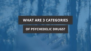 What are Three Categories of Psychedelic Drugs?