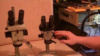 Посленовогодний мини-обзор - сравнение микроскопов МБС-1 и МБС-10.
