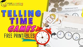 TELLING TIME GAMES BY TOTSCHOOLING - Free Printables