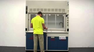 6′ Fisher Hamilton Safeaire Laboratory Fume Hood w/ Flammable Acid Cabinets