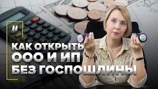 Как открыть ООО и ИП без уплаты госпошлины? Экономим на регистрации.
