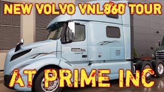 NEW VOLVO VNL860 AT PRIME INC. - INSIDE TOUR
