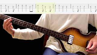 Bass TAB : Three Cool Cats - The Beatles