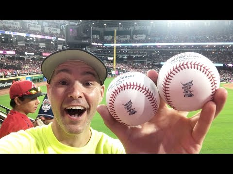 Catching TWO HOME RUNS at the 2019 HR Derby at Progressive Field