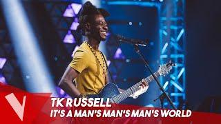 James Brown - 'It's a Man's Man's Man's World' ● TK Russell   Blinds   The Voice Belgique Saison 9