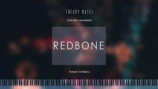 How to Play Childish Gambino - Redbone | Theory Notes Piano Tutorial