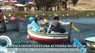 preview picture of video 'Pesca deportiva en el lago Titicaca'