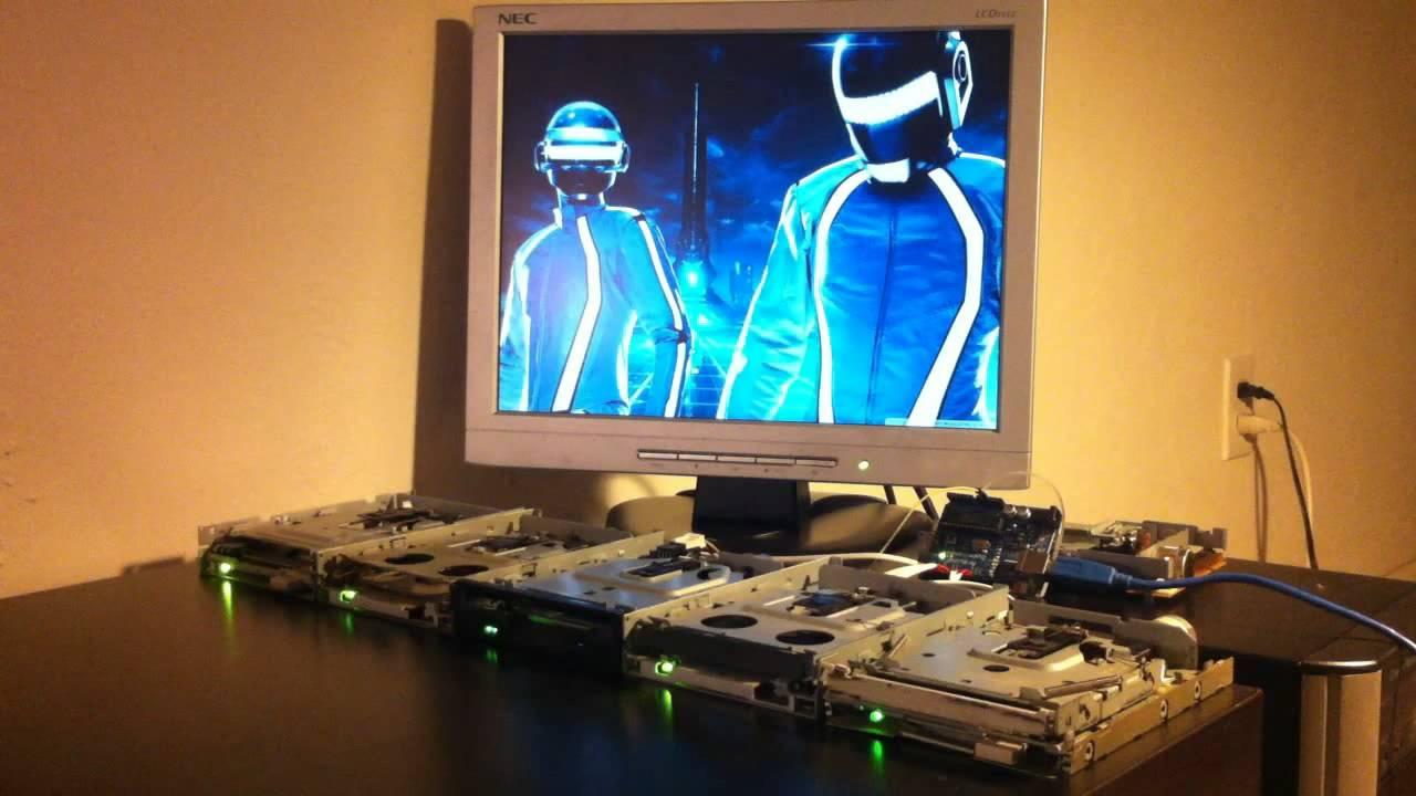 Tron's Derezzed Played On Floppy Drives