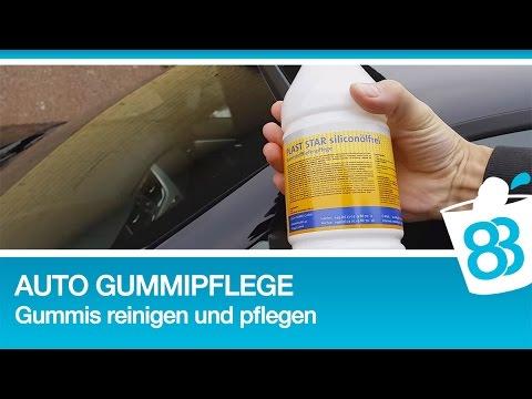 Auto Gummipflege - Gummis reinigen und pflegen für Gummis die wie neu aussehen