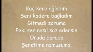Demet Akalın - Şerefime Namusuma (Sözler/Lyrics)