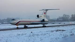 Ту-154 руление в Толмачёво