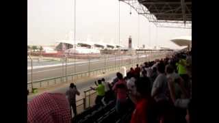 preview picture of video 'Sakhir, Bahrain International Circuit - Turn 1 Grandstand View'