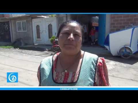 Vecinos de la colonia Clara Córdova en Chalco, piden pavimentación de calles