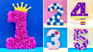 DIY 3D Floral Numbers For Birthday & Anniversary Decoration | 3D Floral Letters
