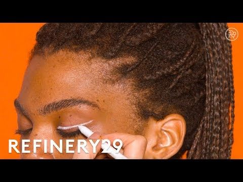 White Cat-Eye Winged Liner Tutorial | Short Cuts | Refinery29