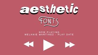 25 Aesthetic Fonts U Should Use! ◡̈