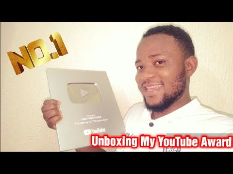 I Cried While Unboxing My Silver Youtube Award For 100,000 Subscribers