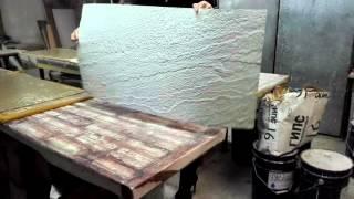 Белый песчаник. Стеновые панели - гибкий каменный шпон. от компании ООО Зикам - видео