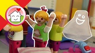 Playmobil en español Lena pasa la noche en la escuela - Familia Hauser