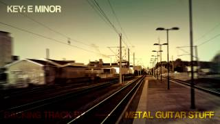 E Minor Modern Metal Sad Guitar Backing Track