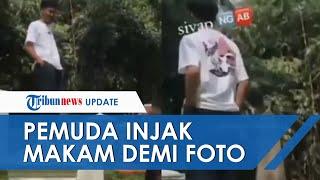 Viral Video Aksi Wisatawan Injak Makam Belanda di Kebun Raya Bogor Demi Konten Foto di Medsos