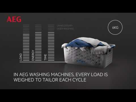 AEG Freestanding Washing Machine L6FBG841CA - White Video 1