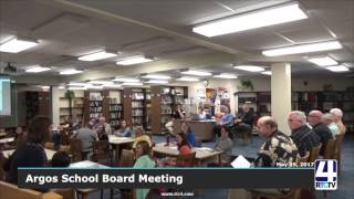 Argos School Board Meeting- May