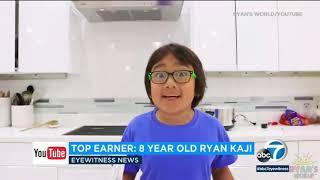 8-year-old Ryan Kaji creator of Ryan's World earned $26 million this year alone   ABC7