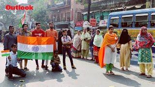 11-Km-Long Human Chain Formed In Kolkata On Republic Day