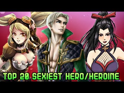 MOBILE LEGENDS TOP 20 SEXIEST HERO/HEROINES • MOBILE LEGENDS ALL HEROES
