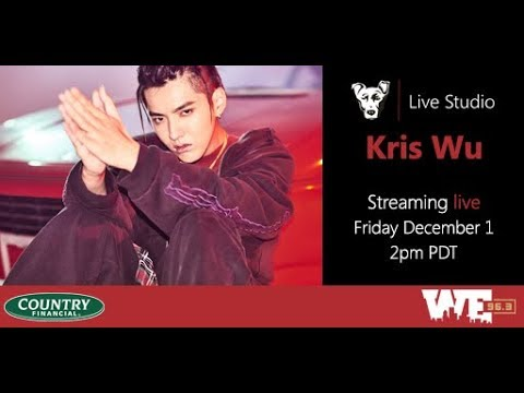 Kris Wu in the WE Live Studio