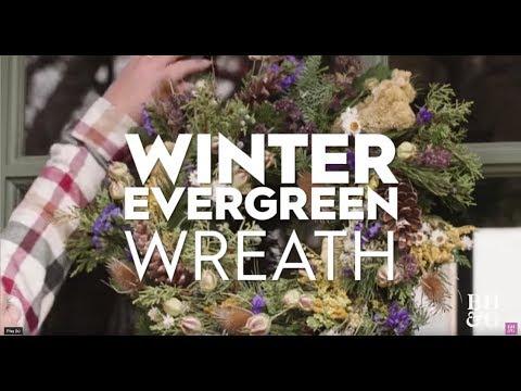 Winter Evergreen Wreath   Made By Me Garden   Better Homes & Gardens