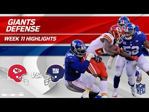 New York's Defense Dominates Kansas City! | Chiefs vs. Giants | Wk 11 Player Highlights