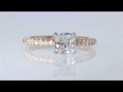 Beautiful Real Diamond Engagement Ring in Rose Gold