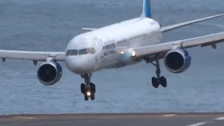 Video HORRIBLE || Very Awful landings | IMPRESSIVE Go arounds B753 A320 B737 || Madeira MP3, 3GP, MP4, WEBM, AVI, FLV Agustus 2019