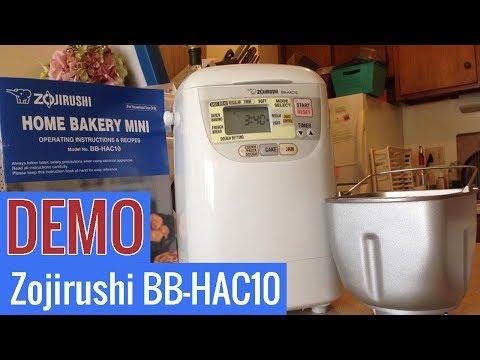 , Zojirushi BB-HAC10 Home Bakery 1-Pound-Loaf Programmable Mini Breadmaker